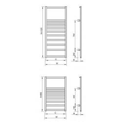 Grzejnik Revo RV - rysunek techniczny