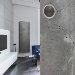 Grzejnik dekoracyjny z betonowym frontem - Rebus firmy Luxrad